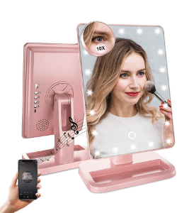 Fenair Espejo de maquillaje con luces inteligente